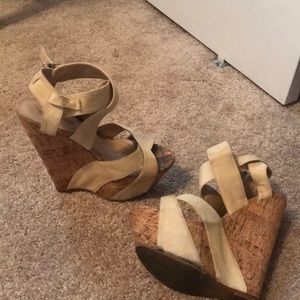 Shoes - Cork heeled wedges